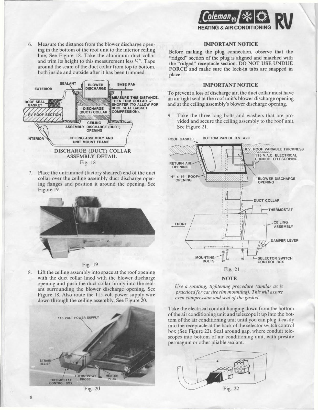 Coleman Mach Air Conditioner Wiring Diagram Bosch 30 Amp Relay 8 Rv Installation Html